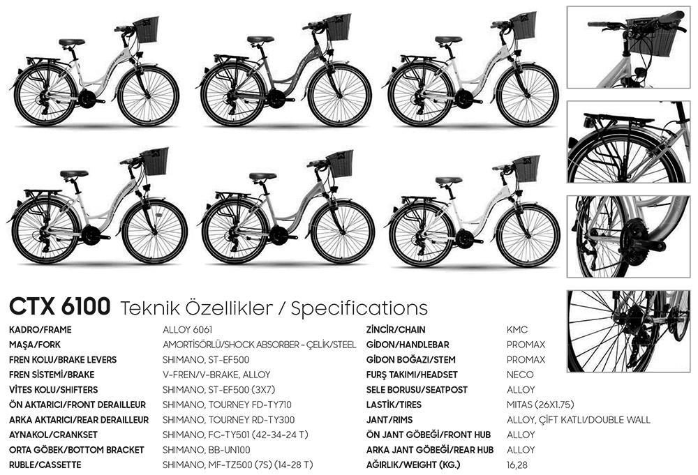 bisan ctx6100 kadın şehir bisikleti